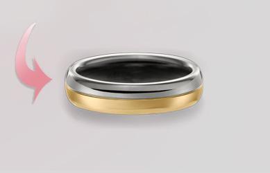 Individuelle Trauringgestaltung Böblingen mehrfabig Ringe